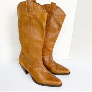 cowboy slouchy leather boots